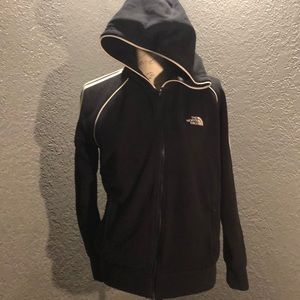 Black w/white strips and Logo The North Face Lg